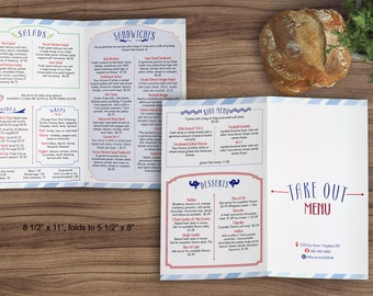 sandwich shop menu template - restaurant menu etsy
