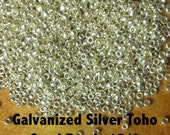 Galvanized Silver Toho Seed Beads 15/0