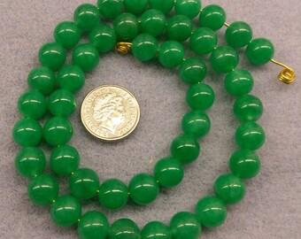 Green Jade 8mm round beads semi precious beads