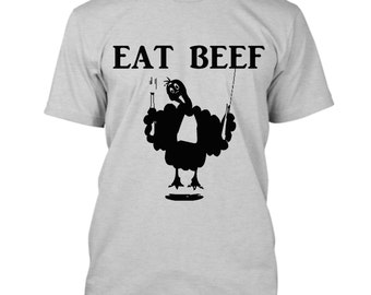 Funny Thanksgiving Shirt, Eat Beef Graphic Tee Shirt, Thanksgiving Toddler Boy Shirt, Toddler Thanksgiving Outfit Boy, Shirts For Women