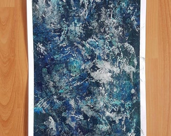 Abstract painting - acrylic - original image - unique