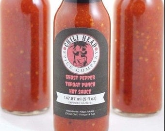 Ghost pepper throat punch hot sauce