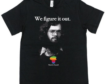 Terence Mckenna Figure it out 100% ring spun cotton Bella+Canvas t-shirt