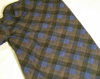 Dog pajamas, XL dog clothes, boy dog clothes, flannel dog clothes, lounge wear, sleepwear, plaid pajamas - cusom made - size S to XXL