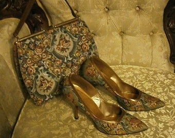 Johansen High Heel Shoes with Matching Purse 7