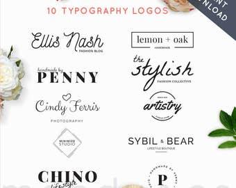 Logo Pack, Logo Creator,Minimalist,Premade Logos, Business logo, Premade logo, photography logos, branding kit,
