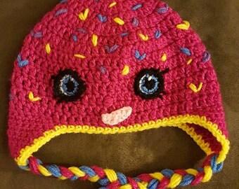 Crocheted Sprinkle Doughnut Hat