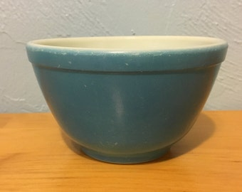Pyrex Unnumbered Blue Primary 401 Nesting Mixing Bowl
