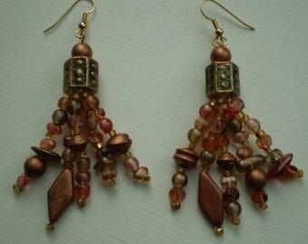 Vintage Beaded Pierced Earrings