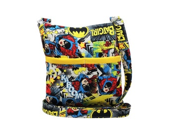 Batgirl Crossbody Bag // Sling Bag // Crossbody Purse // Shoulder Bag // Hipster