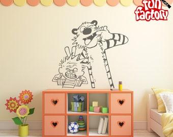 Attractive Calvin U0026 Hobbes Wall Decal Kids Boy Girl Nursery Room Sticker Design, Wall  Mural, Part 26