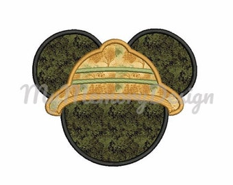 Mr Mouse Applique Design - Mouse ears embroidery - Safary embroidery - Machine embroidery pattern - Instant download - 4x4 5x7 6x10 size