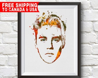 Beautiful Justin Bieber In Color Poster print for your home or office. justin bieber Print, justin bieber Art, Home Decor, Gift Idea.