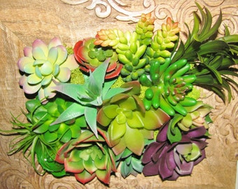 Vertical Succulent Garden, 3D Wall Art, Faux Succulent Planter, Home Accent, Desk Accessory, Modern Arrangement, Succulent Gift