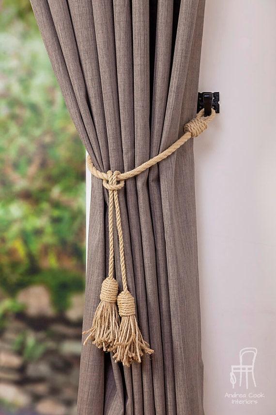 Jute And Hemp Rope Tassel Nautical Curtain Tie Backs