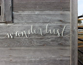 Wanderlust Metal Wall Decor
