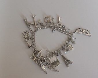 Fifty Shades inspired bracelet charms
