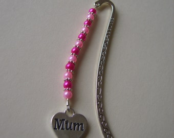 Mum beaded bookmark, Mothers Day beaded bookmark, mum bookmark, mothers day bookmark, mothers day gift