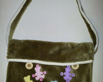 Cute furry handbag (handmade)