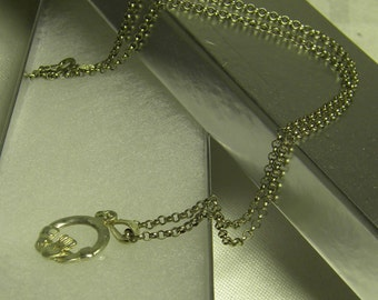 Sterling Silver Irish Claddagh Necklace .925 silver