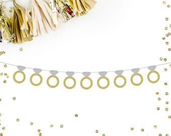 Wedding Ring Banner | wedding | bridal party | bridal shower | engagement party | party banner | bachelorette party |