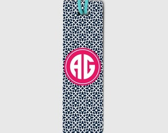Monogram Bookmark - Arabic Pattern Bookmarker - Custom Metal Bookmark - Personalized Page Marker - Gift for Her - Daughter Gift - 015