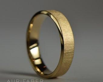 Goldring matt  Herren gold ring | Etsy