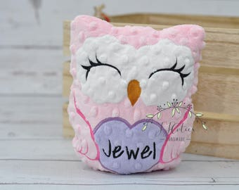 Personalized Stuffed Animal Owl-Personalized Stuffed Owl-Plush Owl-pink Cuddly Owl-Soft Gift for Kids-Owl Stuffed Toy for Girls-Girls Toys