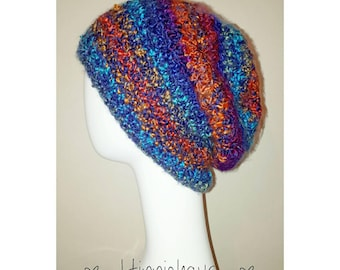 SALE, Slouchy hat, dread hat, dreadlock tam, rasta hat, hippie, boho, tam, beanie, slouchy beanie, rainbow hat, crochet beanie, dreadlocks