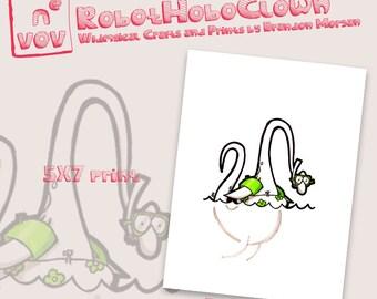 Nessie - Monster Art Print