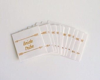 Bride Tribe Gold Foil Flash Tattoo