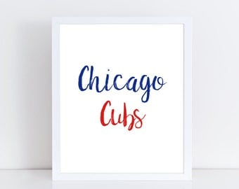 Cubs Wall Printable Large Poster Wall Art Chicago Sports Team Print Typography Square Art Chicago Cubs Art Home Decor For Her For Him Modern