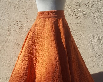 1950s Quilted Skirt