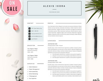 SALE Resume Template - Creative CV Template - for Microsoft Word (US Letter and A4) 1 & 2 Page - lebenslauf - Instant Download