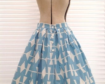 Lucienne Day cotton skirt 1950s design