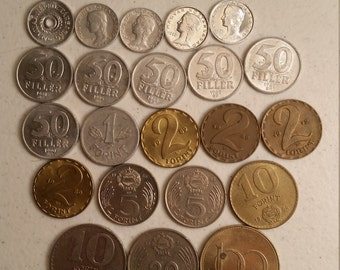 22 hungary vintage coins 1956 - 1995 coin lot fillers forints - world foreign collector money numismatic a34