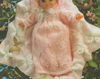 Dolls Clothes PDF Knitting Pattern : 16, 20 and 24 inch baby Dolly . Doll Outfit Pattern . Instant Digital Download