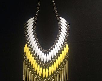 Colourful & striking bib necklace