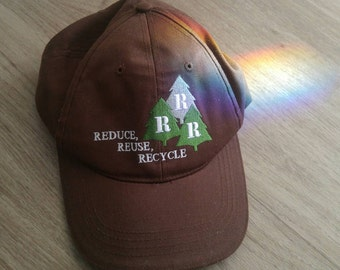 Vintage Recycle Save the Trees Baseball Cap