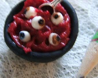Halloween Eyeball Soup Dollhouse Miniature