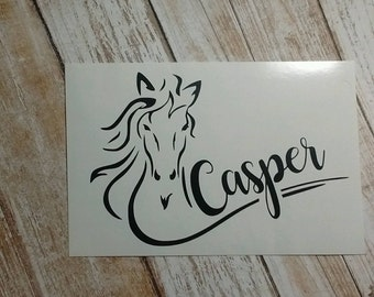 Horse Decal/Horse Monogram/ Monogram/Decal/ Vinyl Decal/ Cowboy Decal/ Cowgirl Decal/Yeti Cup Decal/Horse Name Decal