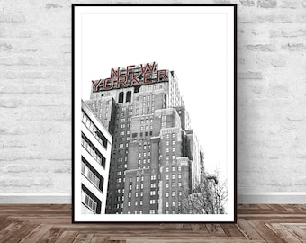 New York Print, Building Print, Building Painting, Black and White Print, Architecture Print, Modern, Printable Art, Instant Download