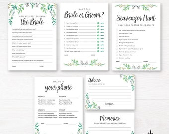 Bridal Shower Games / Bachelorette Party Games / Printable Party Games / Boho Bridal Shower Games / Kitchen Tea Games / Instant download