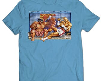 Street Fighter II Turbo SNES Box Art T-shirt