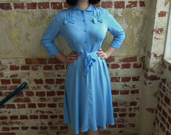 Polly Dress in Powder Blue by The Seamstress of Bloomsbury