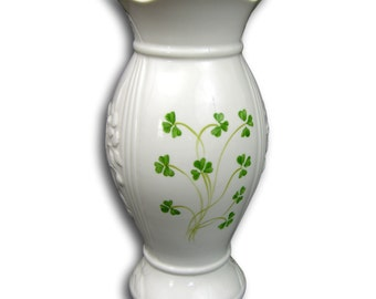 "Donegal by Belleek Vase ""Mourne"" - Embossed and decorated with Shamrocks"