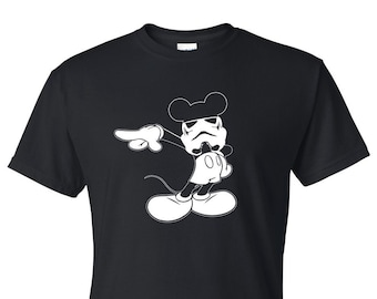 Disney Mickey Mouse Shirt // Disney Mickey with Stormtrooper helmet // Disney Shirts // Star Wars Shirts