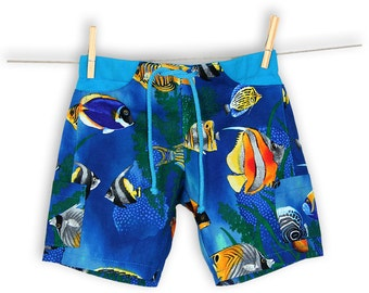 Unisex Under The Sea Pocket Shorts