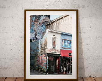 "San Francisco Street Art Photography, The Mission, California, Street Life, Fine Art Photography, 20 cm x 30 cm, 8"" x 12"""