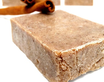 CINNAMON Vegan Soap, Handmade Soap, Artisan Soap, Hot Process Soap, Essential Oil Soap, Natural Soap, Organic Gifts For Her, AnnBoyar